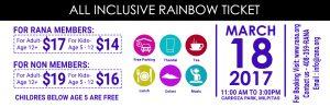 rana holi 2017 rainbow ticket