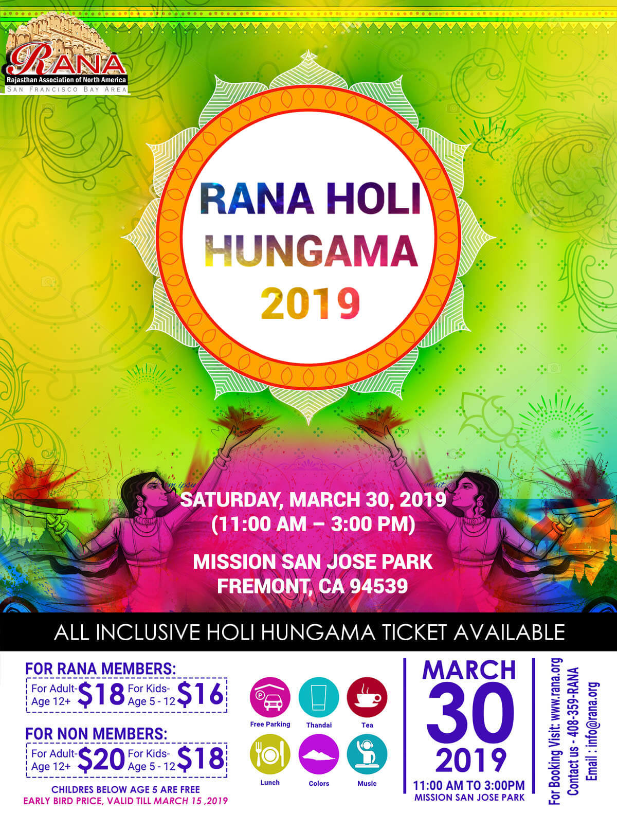 Biggest Holi bay area 2019
